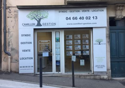 façade-agence-immobiliere-Camilleri-gestion-Nimes